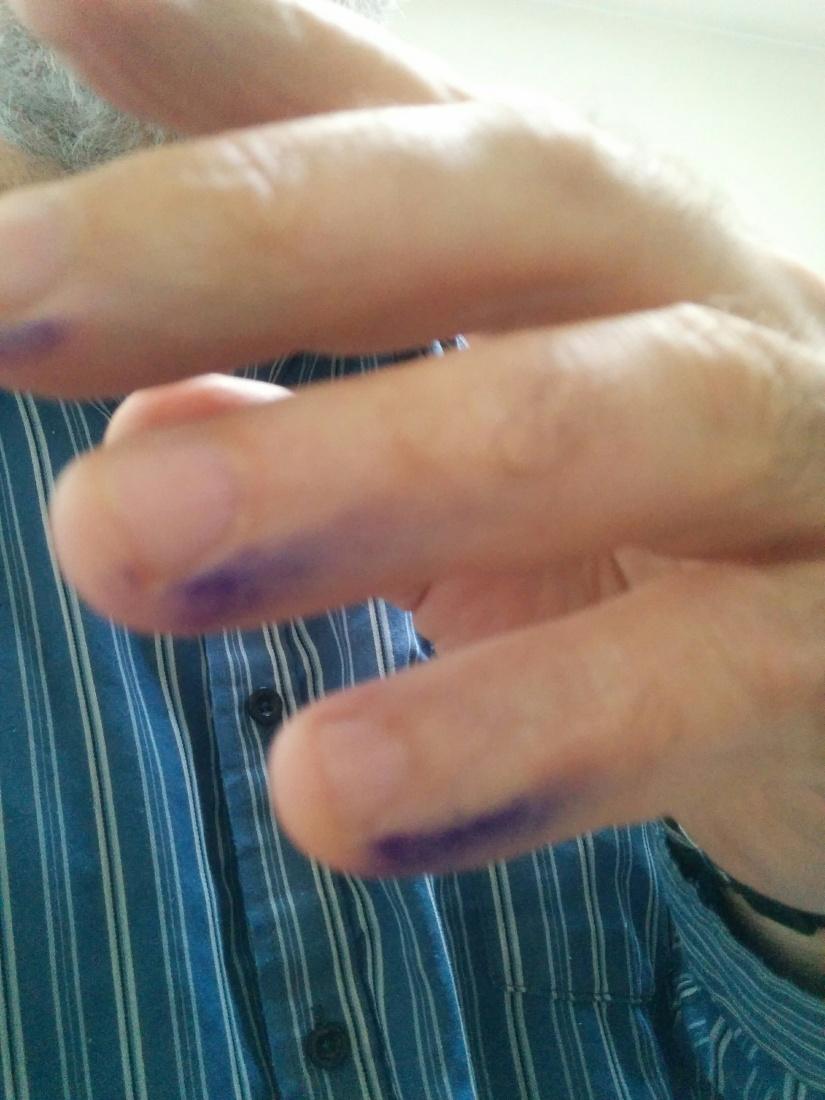 doigt d'écrivain